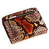 """Жіночий гаманець Karya 1152-530 шкіряний коричневий """"під рептилію"""", фото 4"""