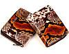 """Жіночий гаманець Karya 1152-530 шкіряний коричневий """"під рептилію"""", фото 3"""