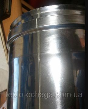 Труба дымоходная нержавейка 0, 5 метра AISI 321, фото 2
