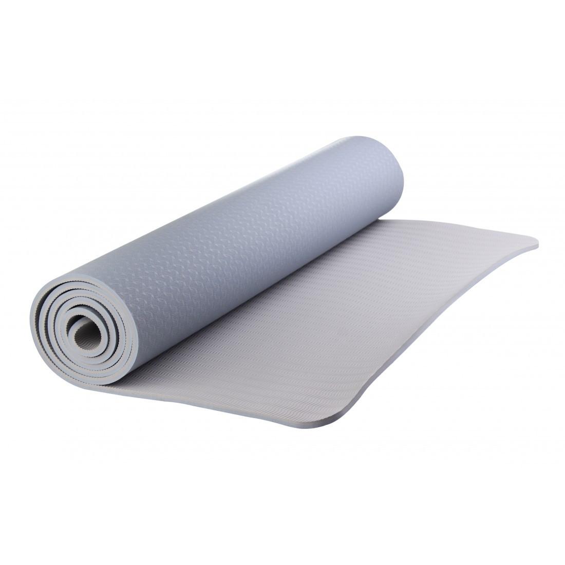 Коврик для йоги, пилатеса, фитнеса LiveUp 185x80x0,7см TPE MAT в чехле (YJ3237-07b)