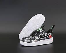 Женские кроссовки Nike Air Force черные. ТОП Реплика ААА класса., фото 2