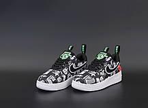Женские кроссовки Nike Air Force черные. ТОП Реплика ААА класса., фото 3