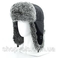Зимняя мужская шапка ушанка из натурального меха SU32
