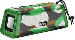 Портативная Bluetooth колонка HOCO BS35, зеленый камуфляж