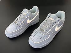 Женские кроссовки Nike Air Force white. Рефлектив. ТОП Реплика ААА класса., фото 3