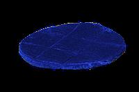 Подушка-лежак (поролон) для кошек и собак Мур-мяу круглая 40 см Синяя