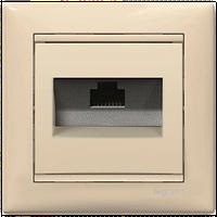 Розетка компьютерная 1xRJ45 кат.5e Valena слоновая кость