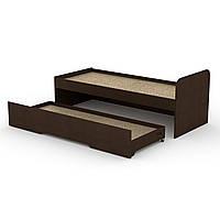 Кровать 80+70 односпальная с выдвижным ящиком для игрушек и постельного 85х75х204 см (Компанит)