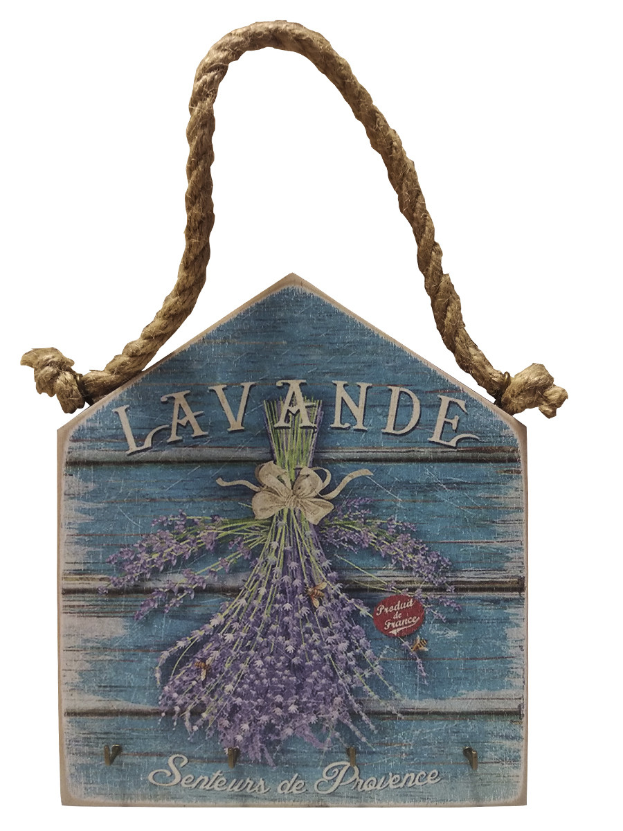 "Ключница на канате, ""Lavande"", 4 крючка"