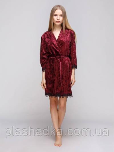 Serenade 5011 халат велюр бордовий Serenade (XL)