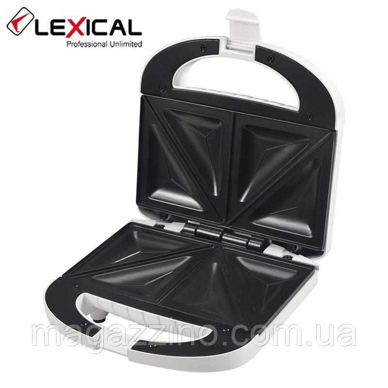 Электрический гриль, бутербродница, сэндвичница, Lexical LSM-2501, 800 Вт.