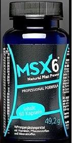 MSX6 (ЭмЭсИкс 6)- капсулы для получения эрекции