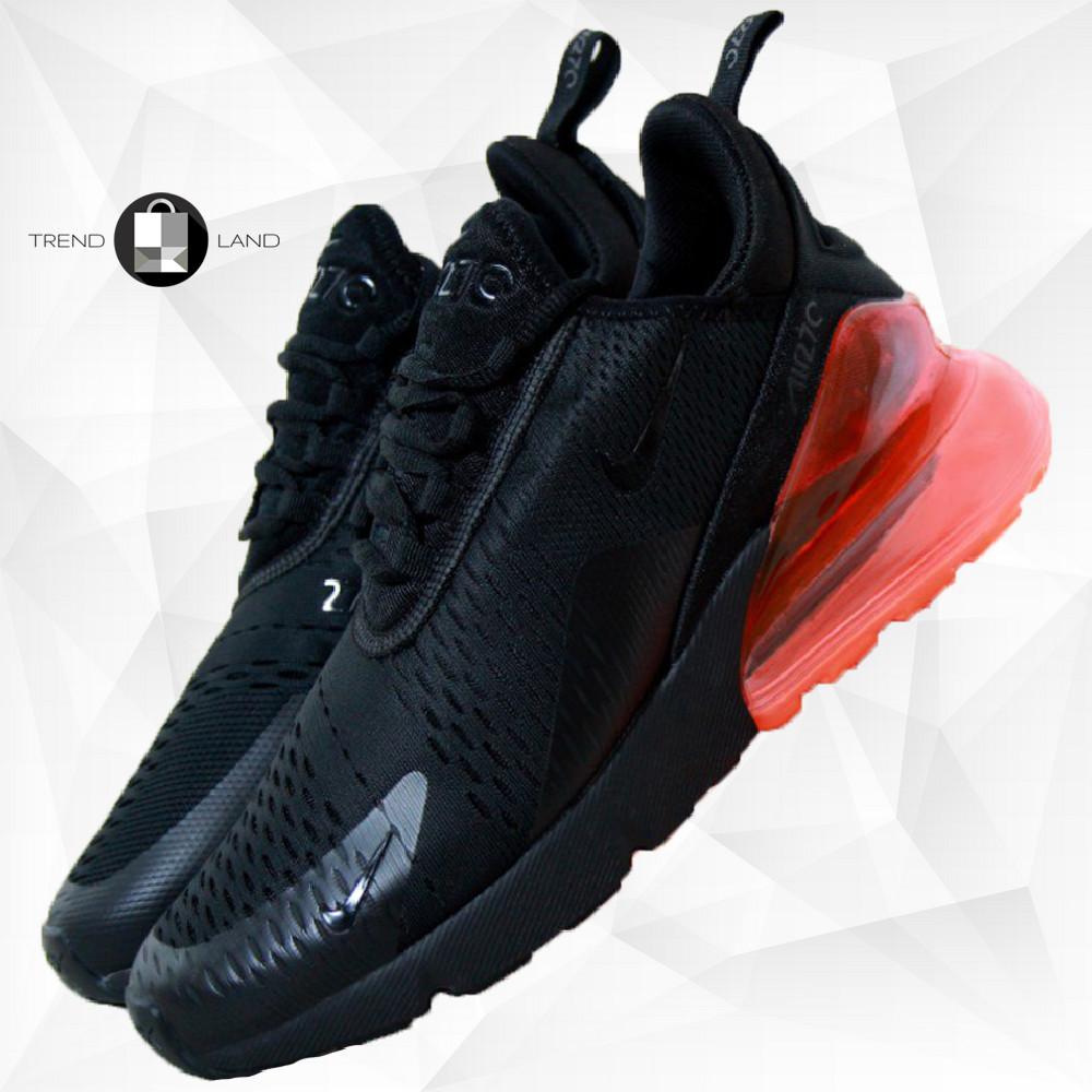 Мужские кроссовки в стиле Nike Air Max 270 Black/Red Черные с красным