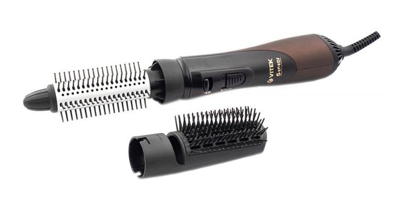 Фен-щітка для укладки волосся 2в1 VITEK VT-8240 1000 Вт Коричневий