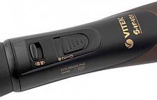 Фен-щітка для укладки волосся 2в1 VITEK VT-8240 1000 Вт Коричневий, фото 3