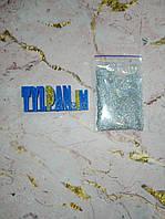 Блестки кондитерские 5 г серебро глиттер