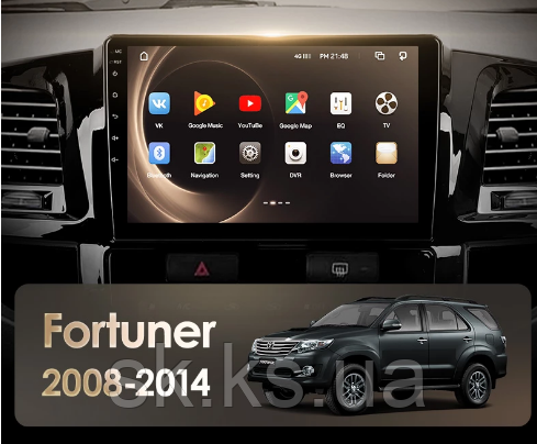 Junsun 4G Android магнитола для Toyota Fortuner HILUX 2005 - 2007 Fortuner AN50 AN60 2008-2014