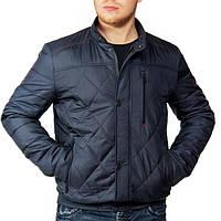 Темно-синяя батальная мужская куртка демисезонная осенняя (48-62р)