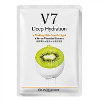 Тканинна вітамінна маска для обличчя BIOAQUA V7 Deep Hydration Ківі