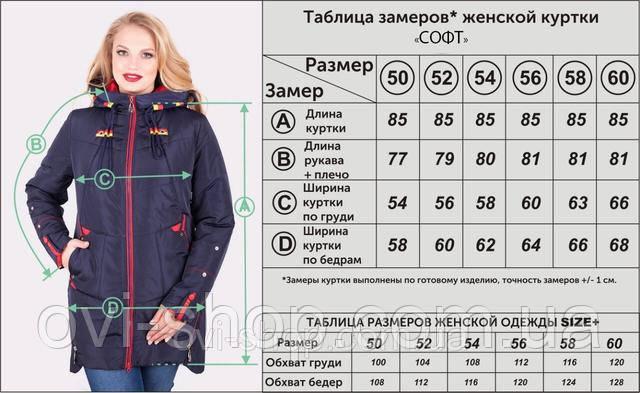 Заміри куртки СОФТ