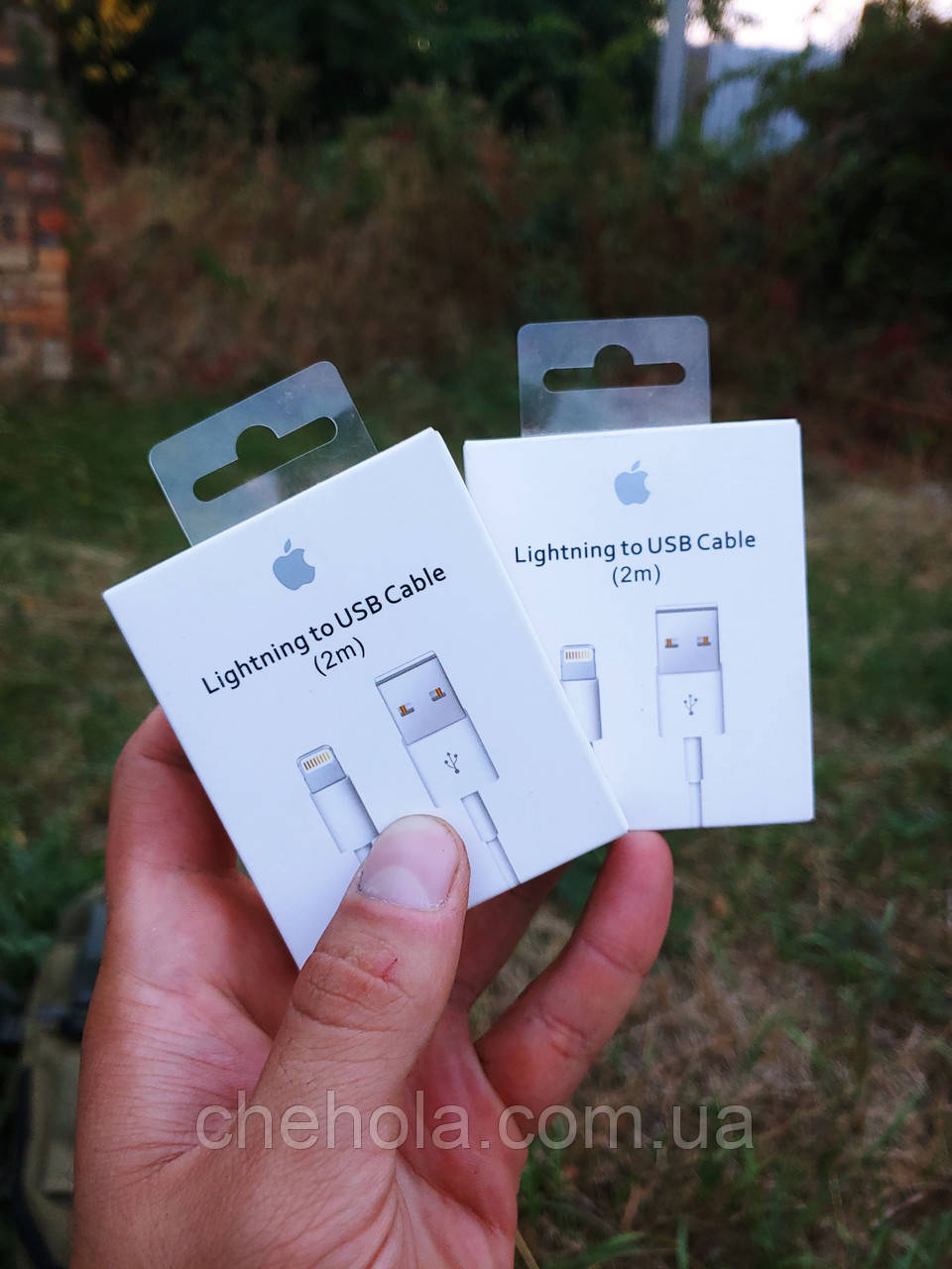 Комплект 2 штуки оригінальних кабелів Iphone 5 6 7 8 XS XR Ipad Lightning 2м Foxconn MFI MD818ZM/A A1480
