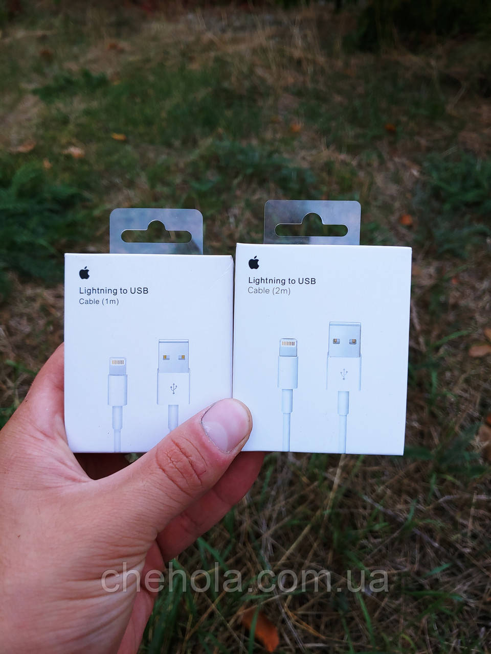 Комплект 2 штук оригинальных кабелей Iphone 5 6 7 8 XS XR Ipad Lightning 1м + 2м  Foxconn MFI MD818ZM/A A1480