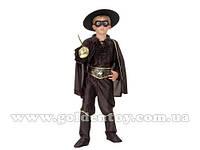 """Карнавальный костюм """"Зорро"""" S/M/L (110-140см), шляпа/маска/жабо/рубашка/пояс/штаны"""