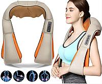 Роликовый массажер для спины и шеи Massager of Neck Kneading, массажер для шеи и плечей, Автотовары,