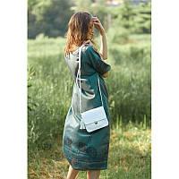 Шкіряна жіноча бохо-сумка Лілу біла