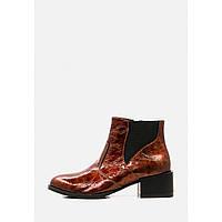 Лаковые демисезонные ботинки на широком каблуке, фото 1