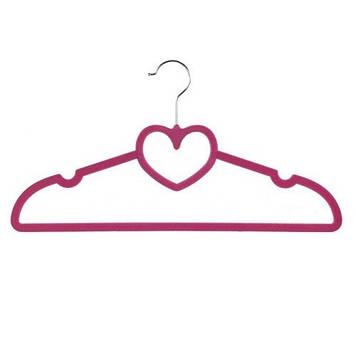 """Вішалка з велюр. покриттям """"Серце"""" 40см №R85331(10)(240)"""