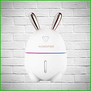 Детский паровой увлажнитель воздуха и ночник 2в1 Humidifiers Rabbit