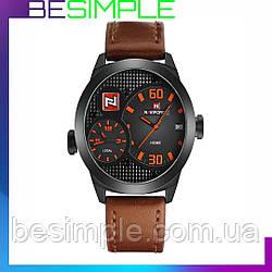 Мужские наручные часы + Подарок Портмоне Baellerry Italia! / Часы  Naviforce BOBN 9092