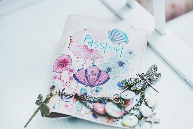 """Обложка на паспорт """"Сад планеты Пандора"""""""