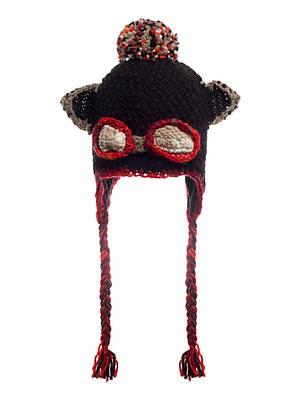 Жіноча стильна в'язана шапка з вушками, Польща., фото 2