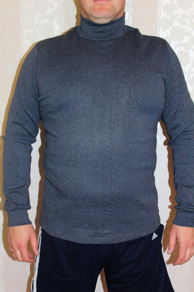 Водолазка мужская теплая с горлом 44-56р.