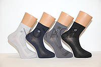 Мужские носки средние стрейчевые в сеточку Montebello Мкр 41-45 темные ассорти сетка