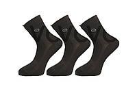 Мужские носки средние стрейчевые в сеточку 200 Мontebello 41-44 черный сетка