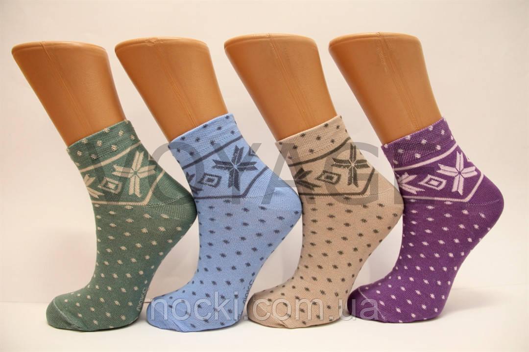 Жіночі шкарпетки середні стрейчеві з бавовни комп'ютерні Style Luxe КЛ KJ kj 78