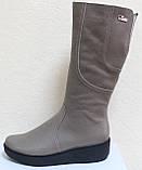 Высокие женские сапоги кожаные на платформе, сапоги от производителя модель БМ751, фото 5
