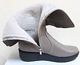 Высокие женские сапоги кожаные на платформе, сапоги от производителя модель БМ751, фото 9
