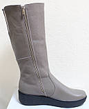 Высокие женские сапоги кожаные на платформе, сапоги от производителя модель БМ751, фото 7