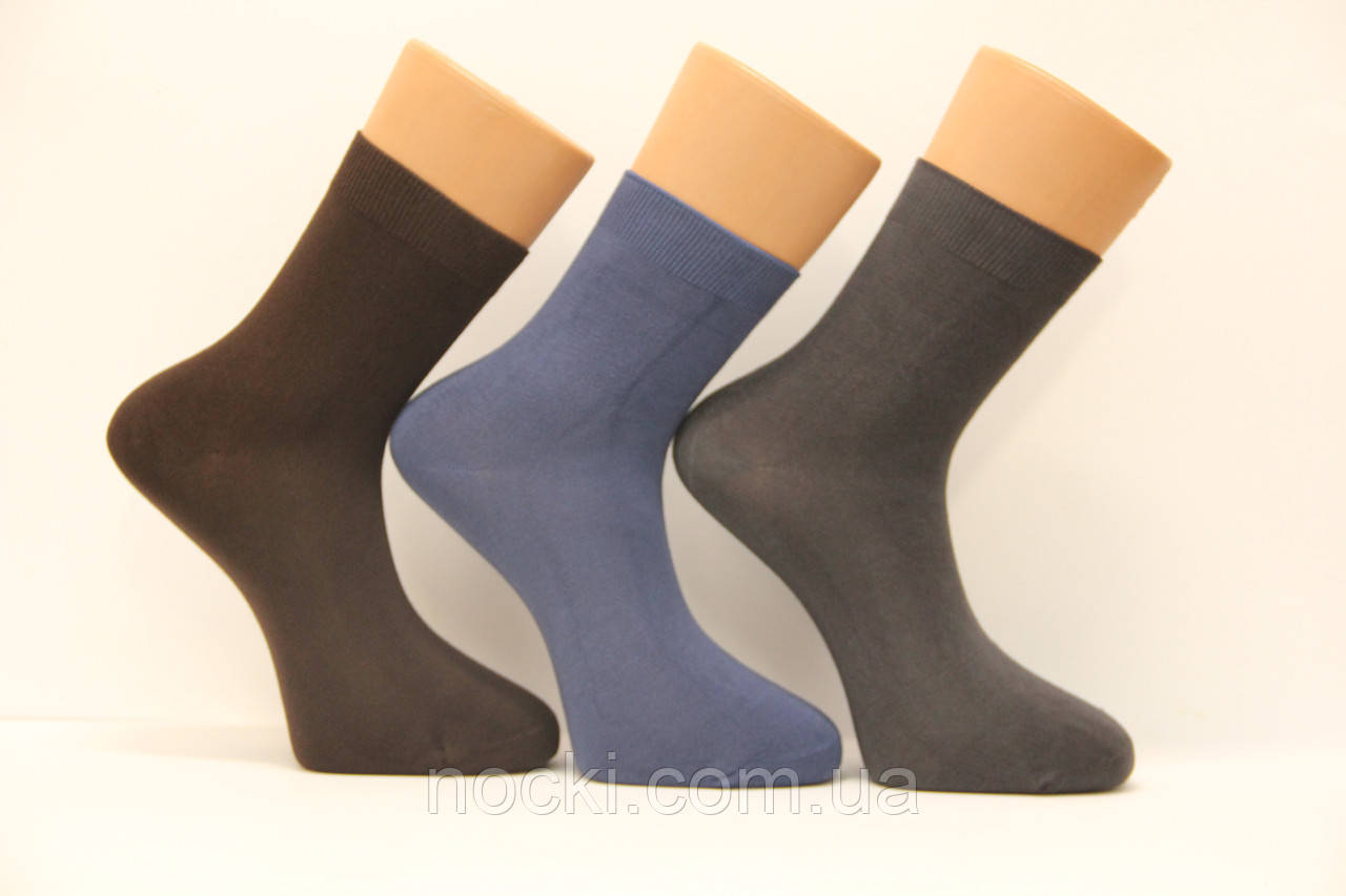 Мужские носки средние стрейчевые с бамбука BYT (Ф15) 41-44 ассорти