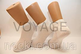 Мужские носки короткие с хлопка в сеточку КЛ 41-45 белый