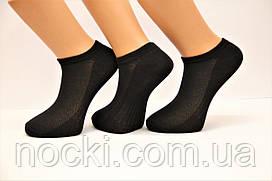 Мужские носки короткие с хлопка в сеточку КЛ 41-45 черный