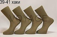Мужские носки высокие с хлопка ЖИТОМИР 100% 39-41 хаки