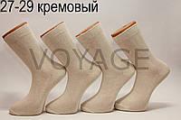 Чоловічі високі шкарпетки з бавовни ЖИТОМИР 100% 27-29 кремовий