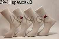 Чоловічі високі шкарпетки з бавовни МІЛАНО 39-41 кремовий