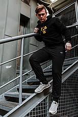 Мужские спортивные штаны в стиле Nike Black Черные, фото 2