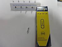 Лампа  W1.2W   12V  1.2W    1.2WW2X4. 6d,  производитель Narva     17037